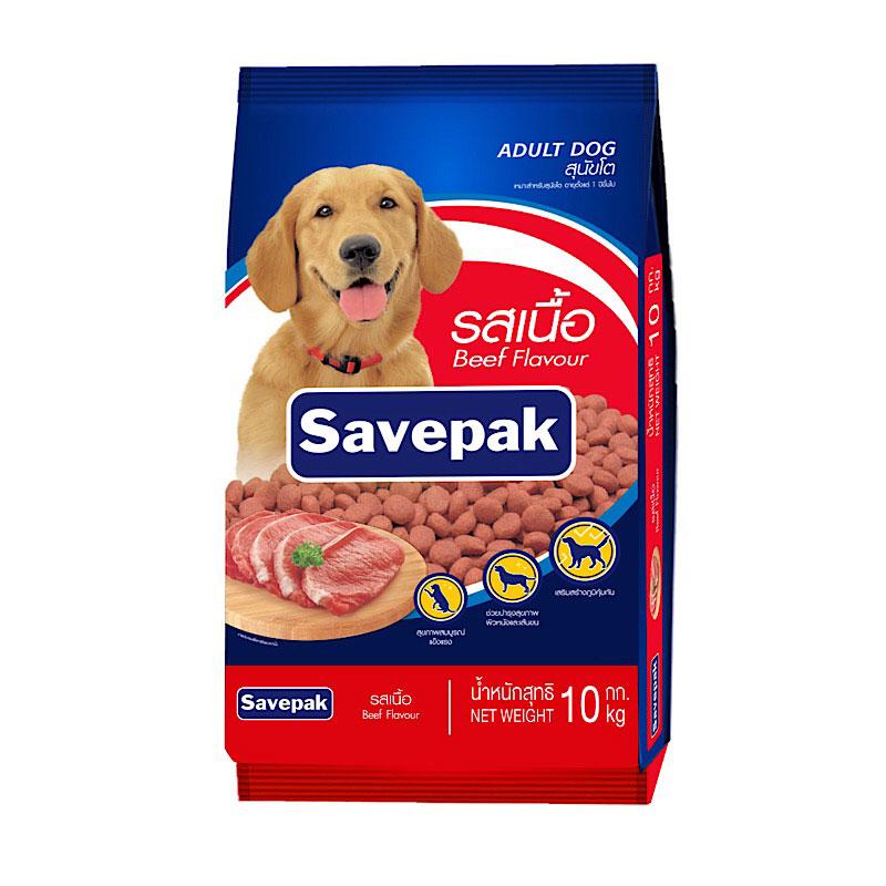 เซพแพ็ค อาหารสุนัขชนิดแห้ง แบบเม็ด สำหรับสุนัขโต รสเนื้อย่าง 10 กก.