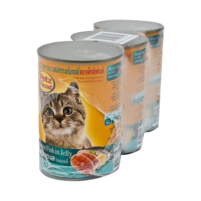 เพ็ทส์เฟรนด์ อาหารแมว รสปลาทะเล 400 กรัม X 3 ซอง