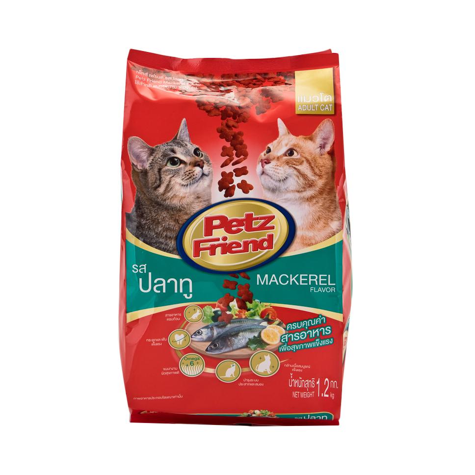 เพ็ทส์เฟรนด์ อาหารแมว ชนิดแห้ง แบบเม็ด รสปลาทู 1.2 กก.