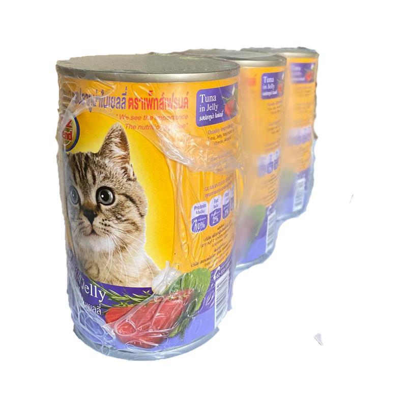 เพ็ทส์เฟรนด์ อาหารแมว รสทูน่า 400 กรัม X 3 ซอง