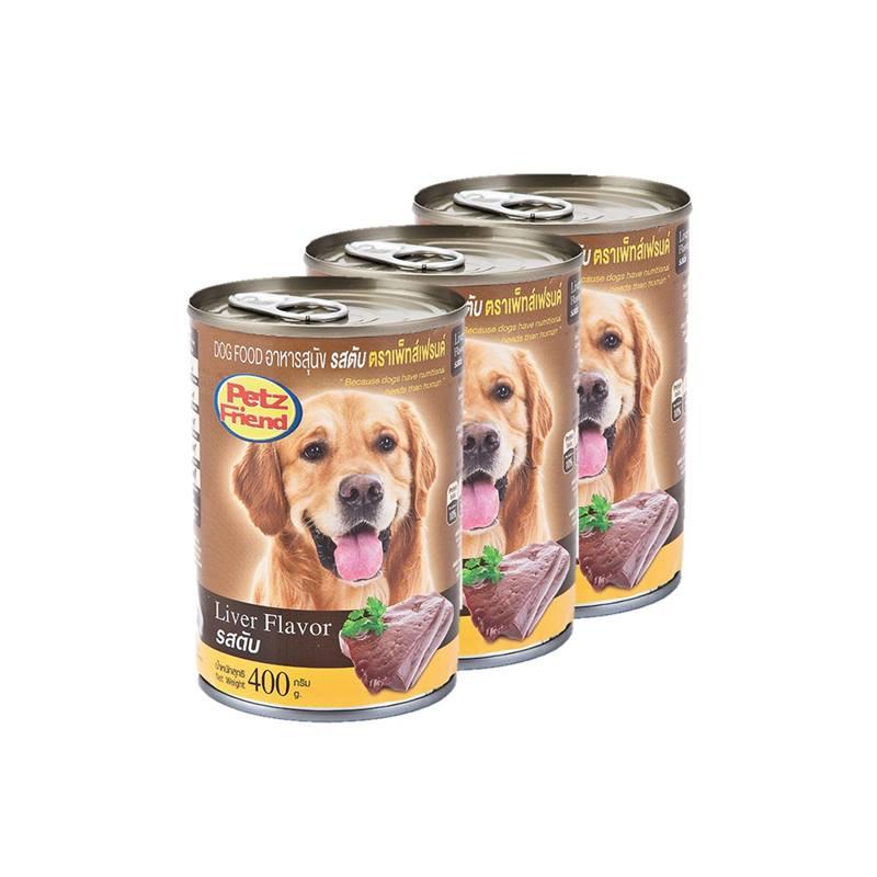 เพ็ทส์เฟรนด์ อาหารสุนัข รสตับ 400 กรัม X 3 ซอง