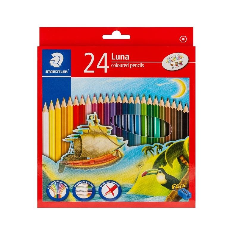 สเต็ดเล่อร์ LUNA สีไม้ยาว 24 สี