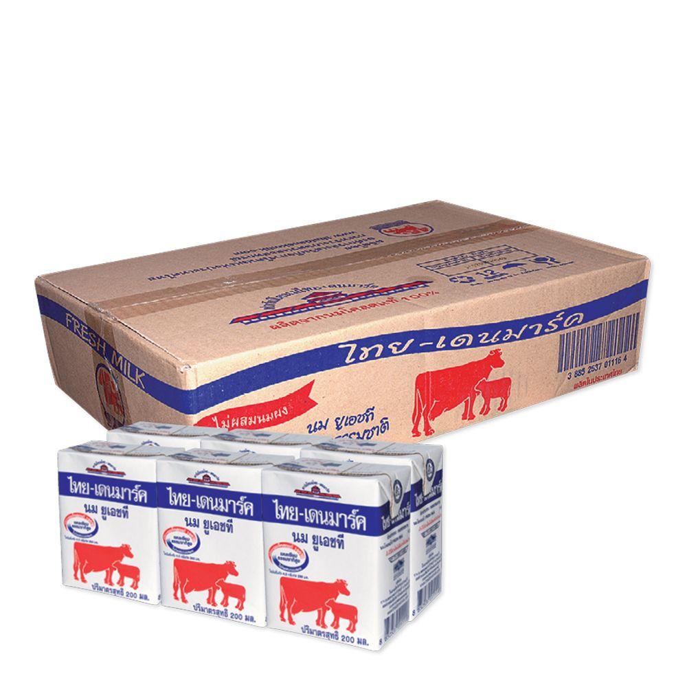 ไทย-เดนมาร์ค นมยูเอชที รสจืด 200 มล. แพ็ค 36 กล่อง
